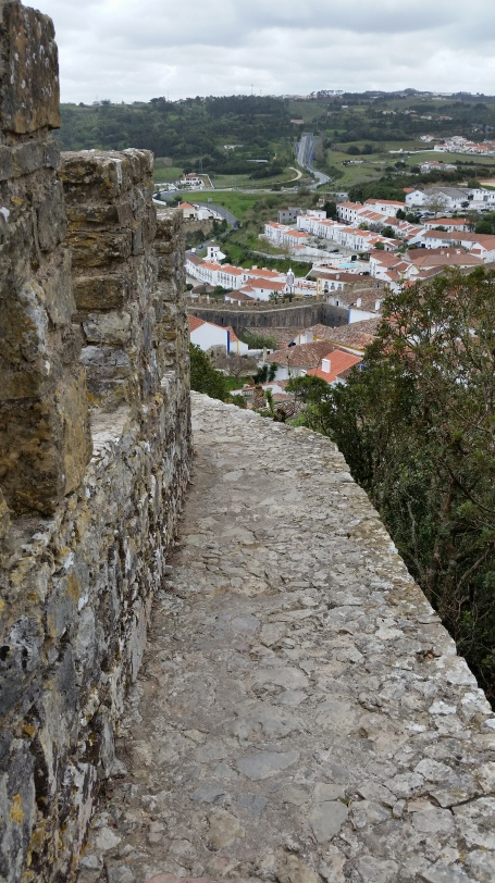 town wall Obidos Portugal